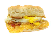 Bacon egg cheese breakfast sandwich Stock Images