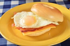 Bacon egg and cheese sandwich Royalty Free Stock Photo