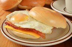 Bacon egg and cheese sandwich Royalty Free Stock Photography