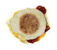 Bacon Egg Cheese Sandwich Top Stock Image