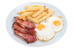 Bacon, Egg & Chips Stock Photo