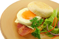 Bacon And Egg Muffin Royalty Free Stock Photo
