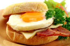 Bacon And Egg Muffin Royalty Free Stock Images
