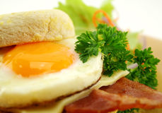 Bacon And Egg Muffin Stock Photo