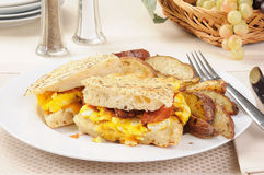 Bacon and egg panini Royalty Free Stock Images