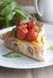 Bacon and egg pie Royalty Free Stock Image