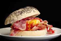 Bacon and egg roll. Stock Photography