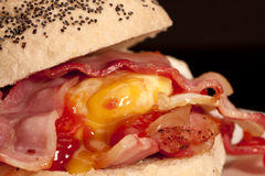 Bacon and egg roll. Stock Photo