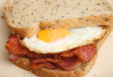 Bacon & Egg sandwich Stock Images