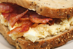 Bacon & Egg Sandwich Royalty Free Stock Photo