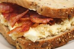 Bacon & Egg Sandwich Royalty Free Stock Photo