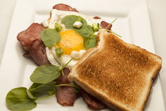 Bacon and Egg Sandwich Royalty Free Stock Photo