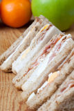 Bacon, egg and sausage sandwiches Stock Photo
