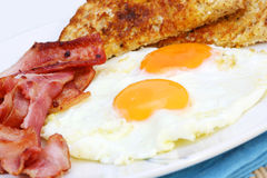 Bacon and Eggs Stock Photos
