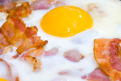 Bacon and eggs. Freshly cooked bacon and eggs Royalty Free Stock Image