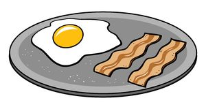 Bacon & eggs Stock Images