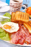 Bacon and eggs for breakfast Royalty Free Stock Photo