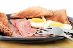 Bacon and eggs breakfast Royalty Free Stock Images