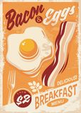Bacon and Eggs breakfast menu Stock Image