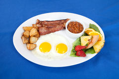 Bacon and eggs breakfast platter Stock Photos