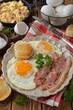 Bacon and eggs Stock Photography