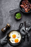 Bacon and eggs Royalty Free Stock Photography