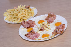 Bacon and eggs. Stock Photo