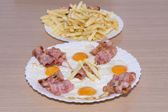 Bacon and eggs. Stock Image