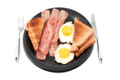 Bacon and eggs smile Royalty Free Stock Images