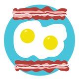 Bacon and Eggs Stock Photos
