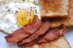 Bacon Eggs and Toast Royalty Free Stock Photography
