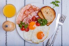 Bacon en Eieren Stock Fotografie