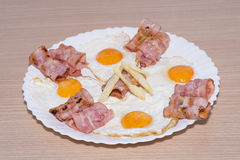 Bacon en Eieren Royalty-vrije Stock Foto's