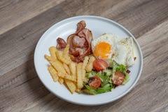 Bacon en gebraden gerechten Stock Fotografie