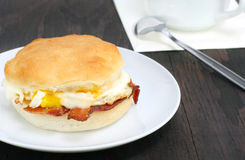 Bacon and Eqq Biscuit Stock Photography