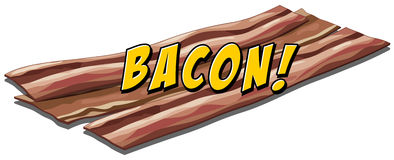 Bacon flavour. Icon with text Stock Image
