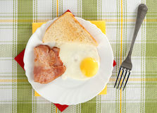 Bacon and fried egg Stock Images