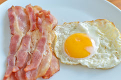 Bacon and fried egg Royalty Free Stock Image