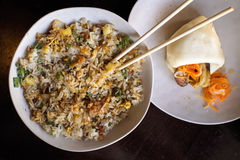 Bacon fried rice Stock Images