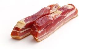 Bacon fumado cru Imagens de Stock