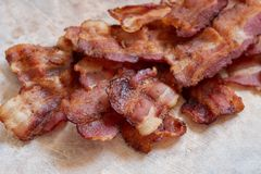 Bacon gorduroso cozinhado imagens de stock royalty free