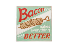 Bacon. An idiom about bacon against a white background Royalty Free Stock Photos