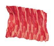 Bacon isolado no branco fotografia de stock