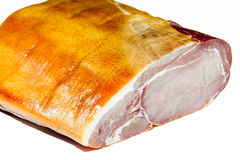 Bacon Joint. Macro close up of a gourmet Bacon Joint. Shot on a white background stock images