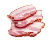 bacon kurerade skivor Royaltyfri Bild
