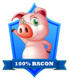 Bacon label Stock Images
