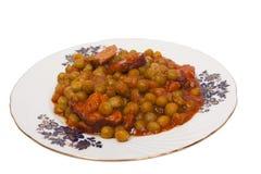bacon lagad mat ärtaplatta Arkivfoto