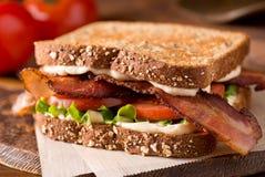 Bacon, lattuga e panino del pomodoro BLT fotografia stock