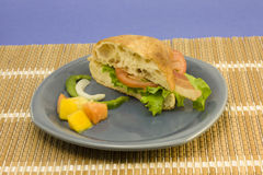 Bacon Lettuce Ciabatta Sandwich Royalty Free Stock Photos