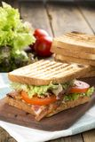Bacon lettuce tomato BLT sandwich royalty free stock images